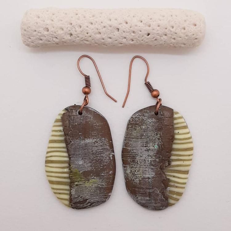 необычные серьги из полимерной глины