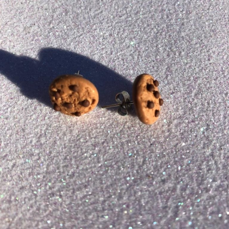 серьги печенье из полимерной глины