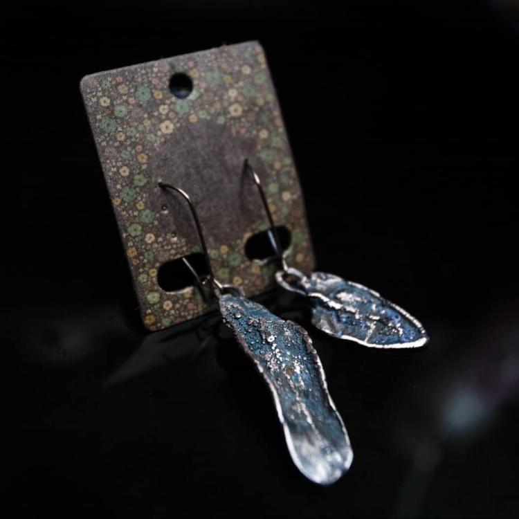 стильные серьги из полимерной глины