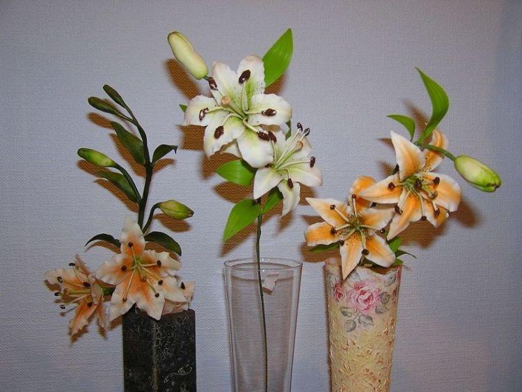Цветы из полимерной глины мастер класс