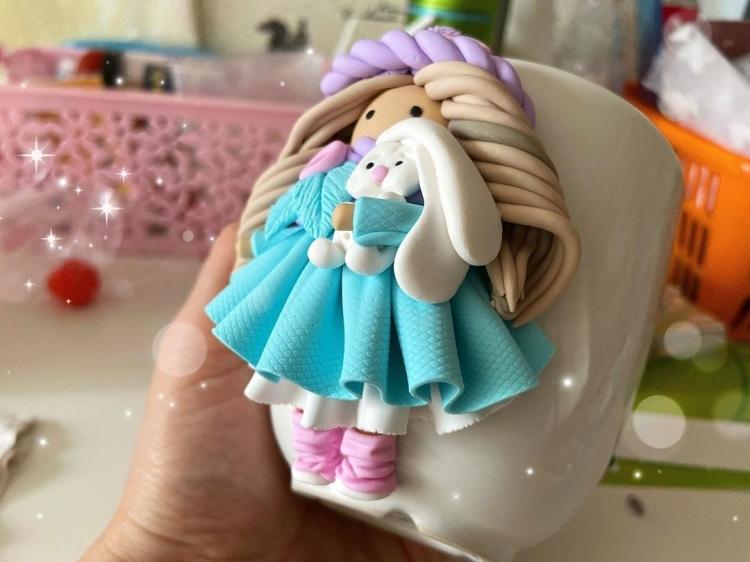 doll made of polymer clay. Кукла из полимерной глины (2)