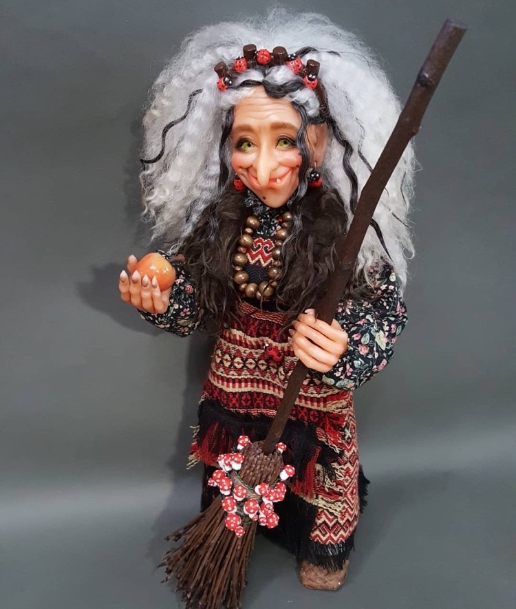 doll made of polymer clay. Кукла из полимерной глины (3)