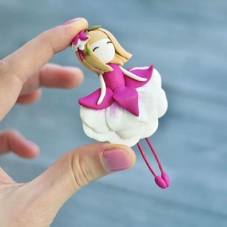 doll made of polymer clay. Кукла из полимерной глины
