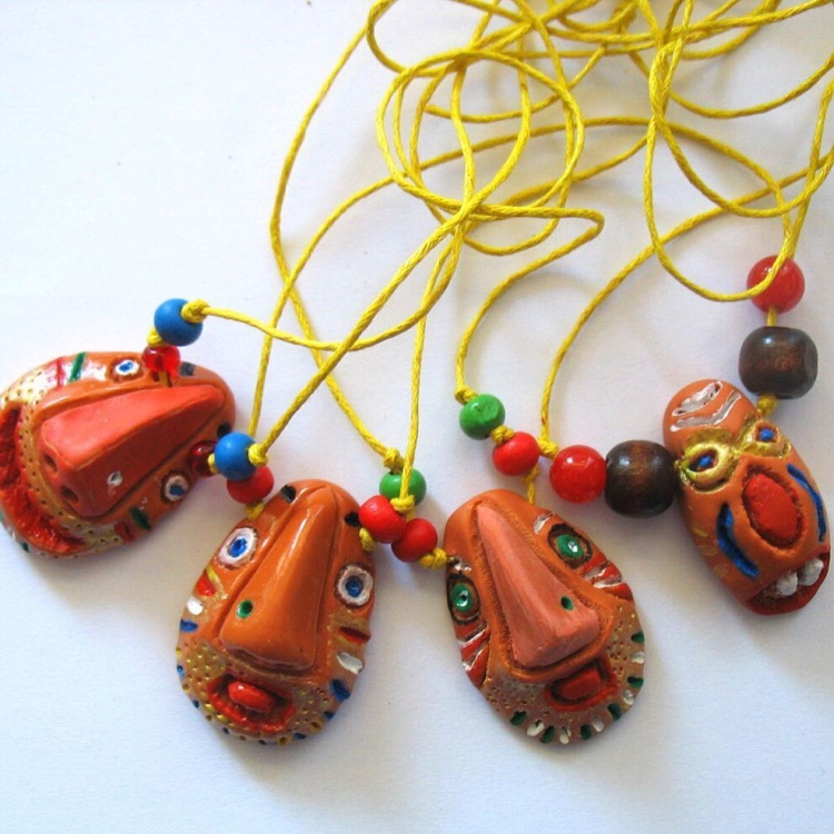 pendant made of polymer clay (1)