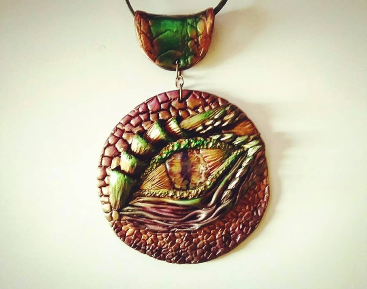 pendant made of polymer clay (5)