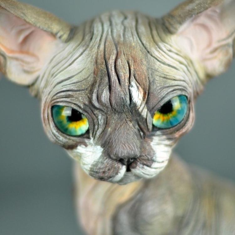 polymer clay cat. кот из полимерной глины