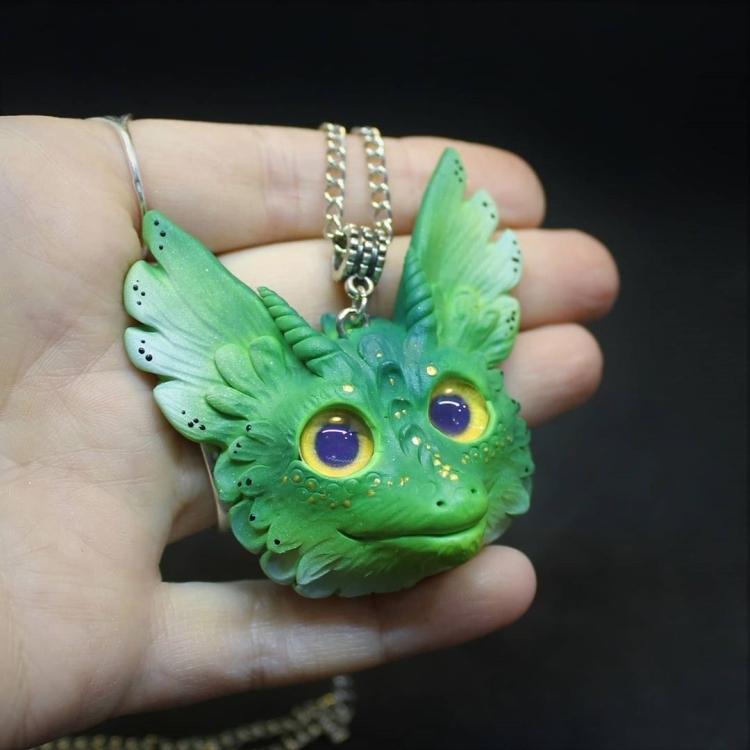 polymer clay dragon. Дракон из полимерной глины (3)