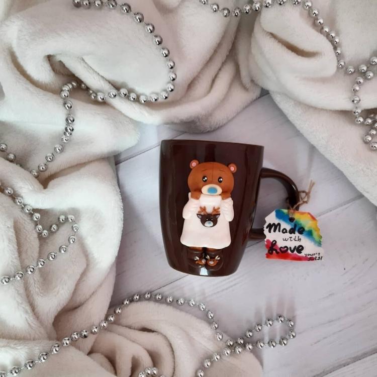 polymer clay mug . кружка из полимерной глины (12)