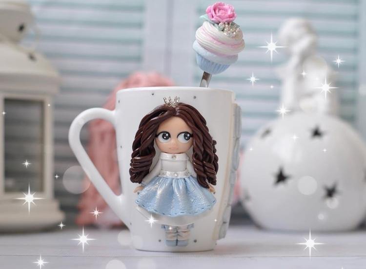 polymer clay mug . кружка из полимерной глины (3)