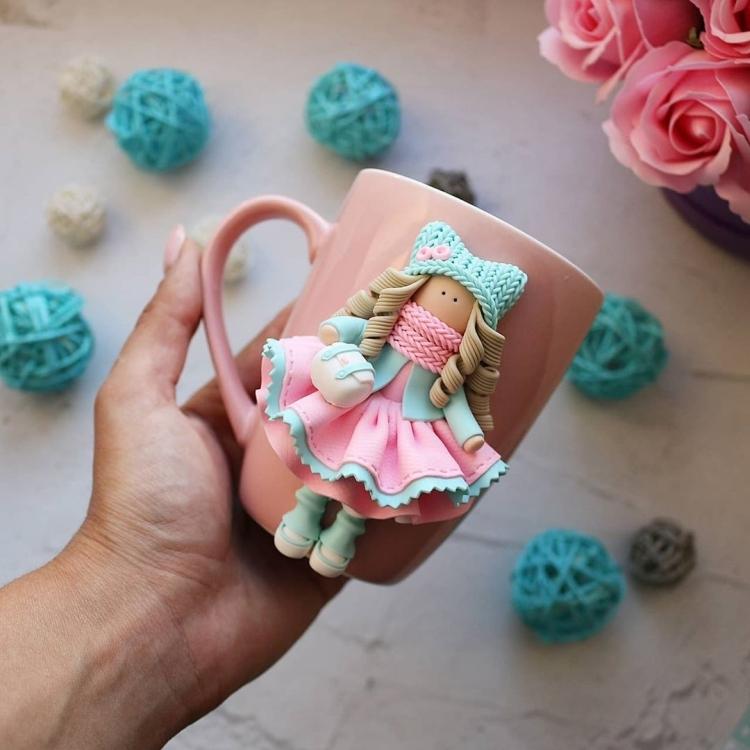 polymer clay mug . кружка из полимерной глины (5)