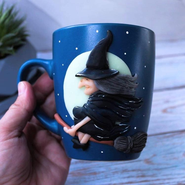 polymer clay mug . кружка из полимерной глины (6)