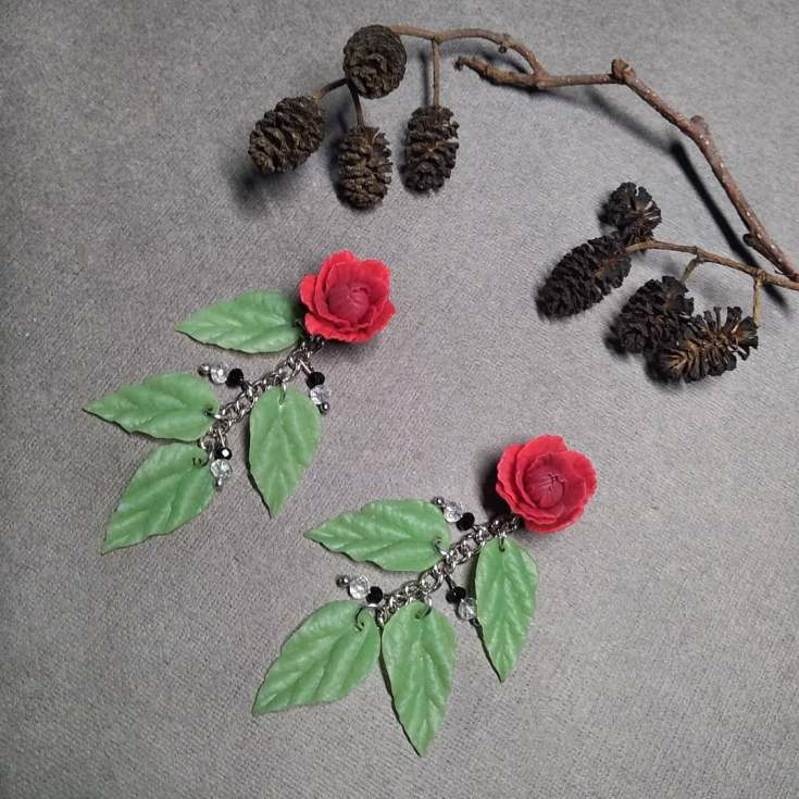 Розы из полимерной глины