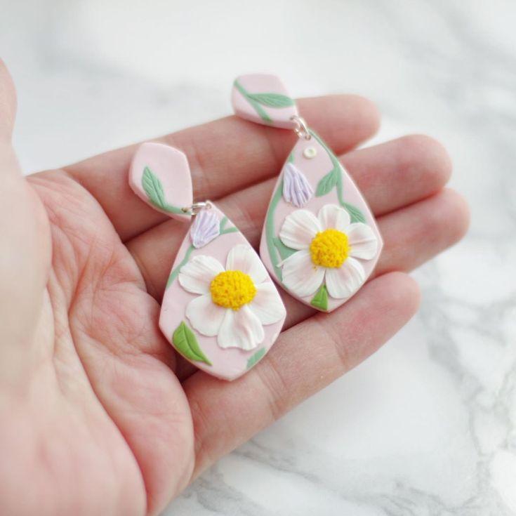 Серьги из полимерной глины своими руками