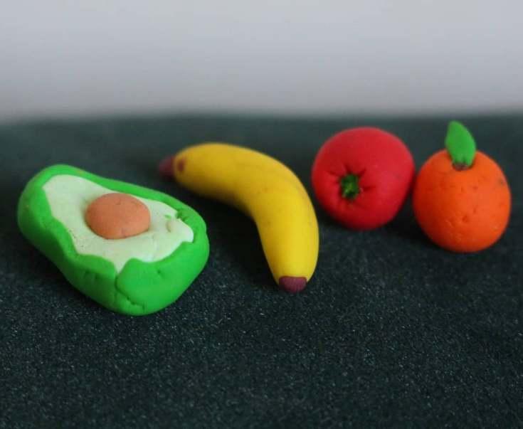 Фрукты из полимерной глины