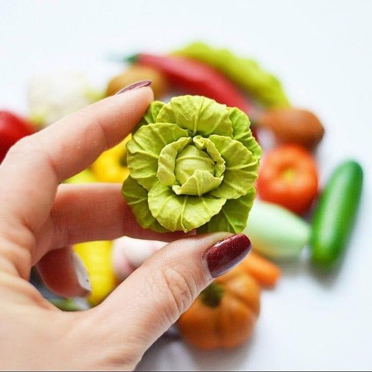 овощи и фрукты из полимерной глины (26)