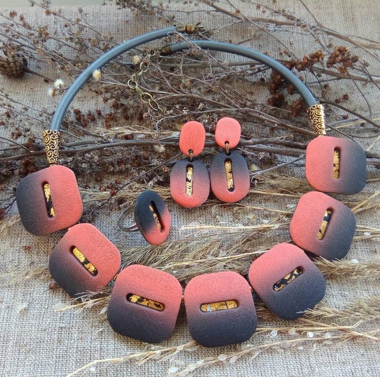 polymer clay jewelry-украшения из полимерной глины (10)