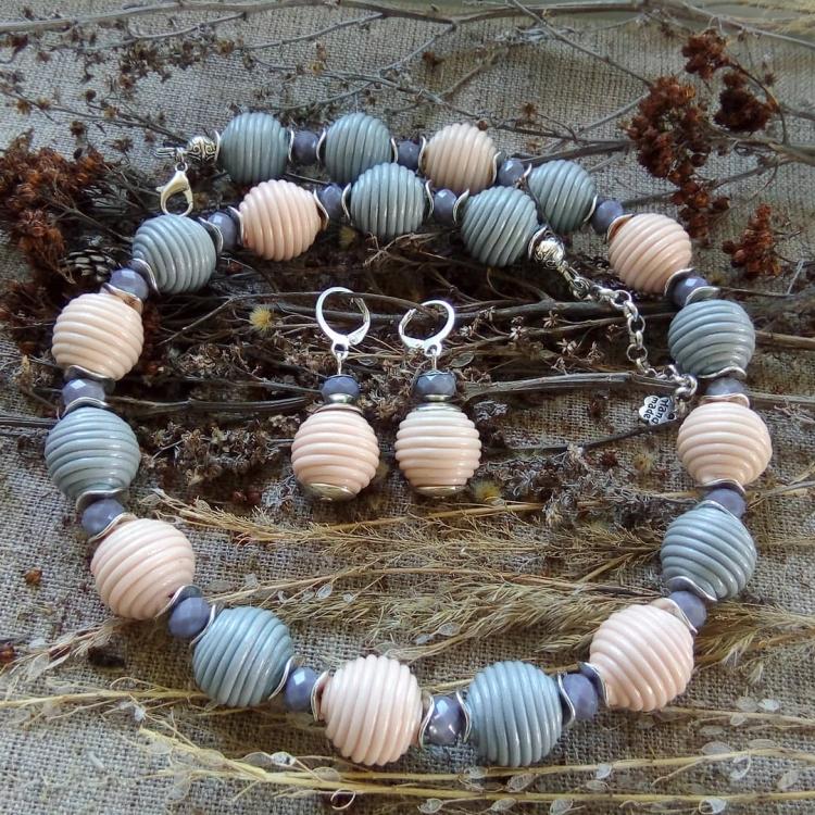 polymer clay jewelry-украшения из полимерной глины (11)