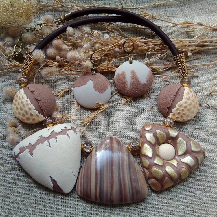 polymer clay jewelry-украшения из полимерной глины (13)
