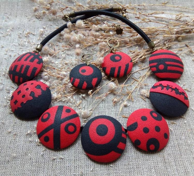 polymer clay jewelry-украшения из полимерной глины (14)