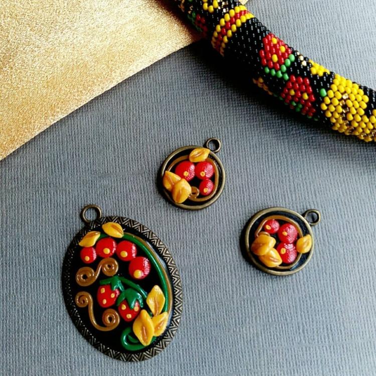 polymer clay jewelry-украшения из полимерной глины (34)