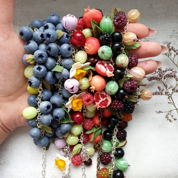 polymer clay jewelry-украшения из полимерной глины (6)