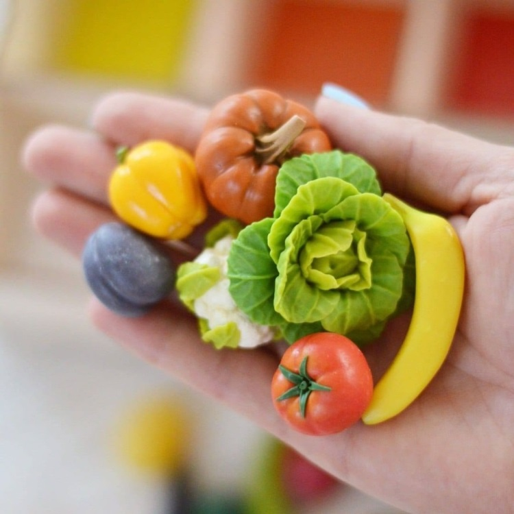 polymer clay vegetables (5)