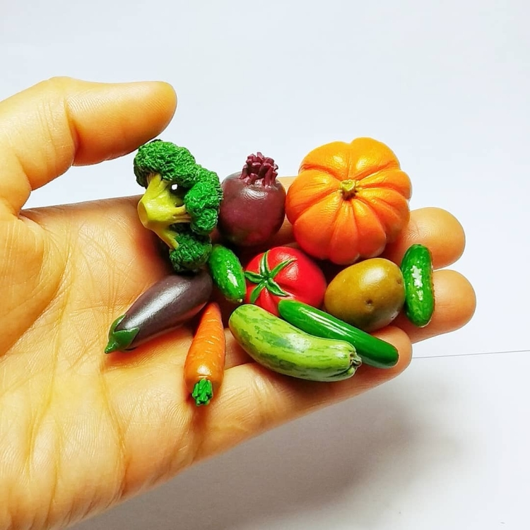 vegetables and fruits polymer clay (1)