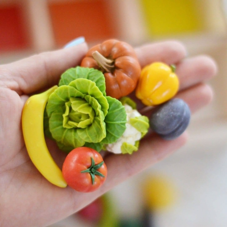 vegetables and fruits polymer clay (16)
