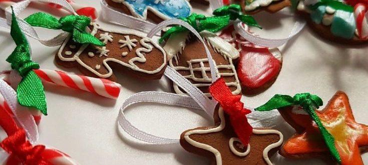 Елочные игрушки из полимерной глины