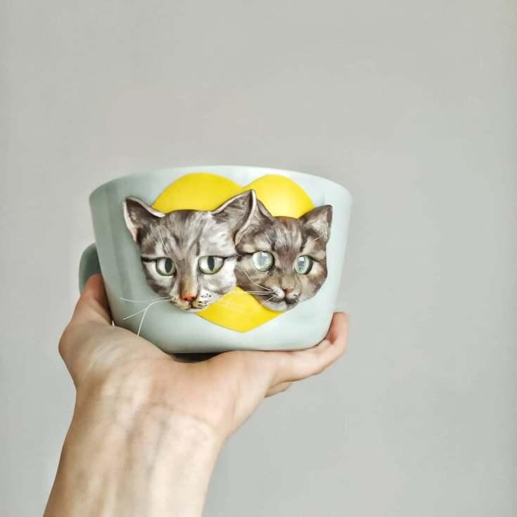 Кошка из полимерной глины