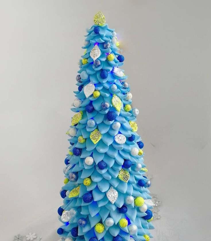 елка из полимерной глины