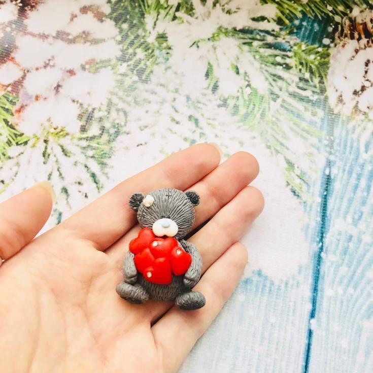 мишки из полимерной глины