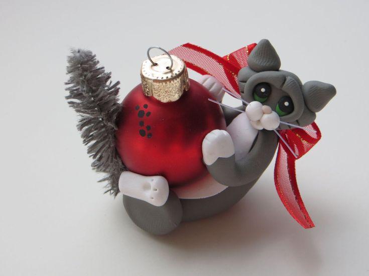 новогодние игрушки из полимерной глины